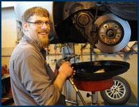 Troy working under car